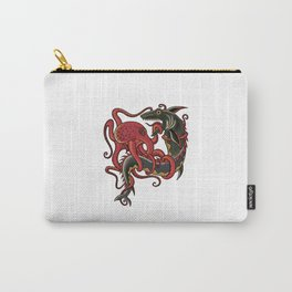 tattoo design - octopus fighting shark Carry-All Pouch