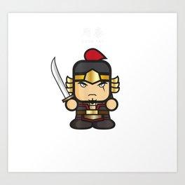 Three Kingdoms Warriors Art Print