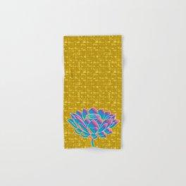 Lotus Holly Flower on Gold-leaf Screen Hand & Bath Towel