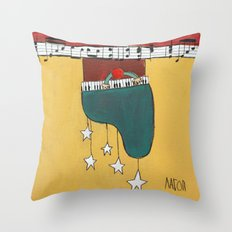 Piano Chime Throw Pillow
