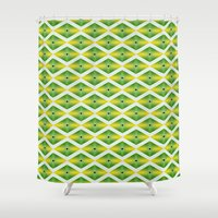 emerald Shower Curtains featuring Emerald by AZRI AHMAD