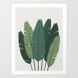 Cat and Plant 18 Art Print