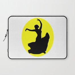 Flamenco Dancer Black, Sun Laptop Sleeve