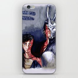 Why are you wearing that stupid man suit? iPhone Skin
