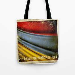 Grunge sticker of Armenia flag Tote Bag