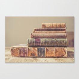 Vintage Books Canvas Print