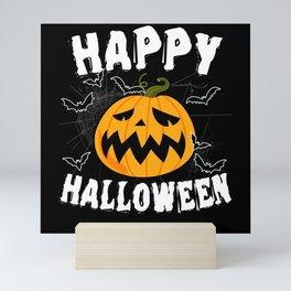 Halloween costume pumpkin horror monster Mini Art Print