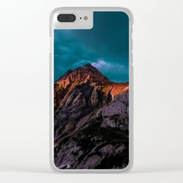 The Volcano Mountain (Color) Clear iPhone Case