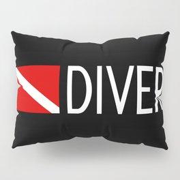 Diver Down Flag: Diver Pillow Sham