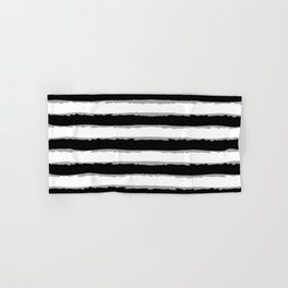 Black And White Lined Pattern. Hand & Bath Towel