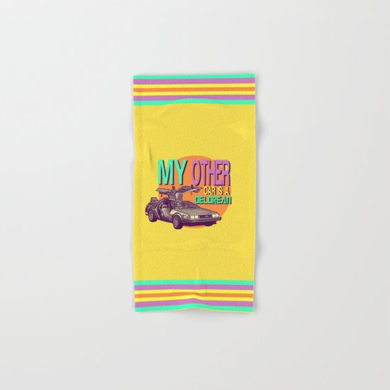 My Other Car Is A Delorean  |  Time Machine Hand & Bath Towel