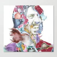 dave grohl Canvas Prints featuring Dave Grohl by Bethan Eastwood