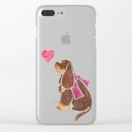 Watercolour American Cocker Spaniel Clear iPhone Case