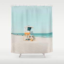 Aussie lifeguard Shower Curtain