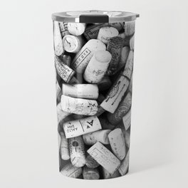 Something Nostalgic II Twist-off Wine Corks in Black And White #decor #society6 #buyart Travel Mug