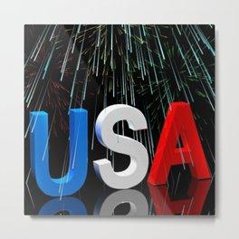 Patriotic USA Sparkler   Metal Print