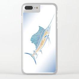 Tribal Sailfish Clear iPhone Case