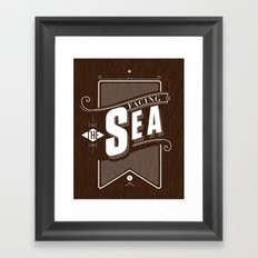 Facing The Sea Framed Art Print