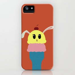 """Hare Cream"" - bunny icecream sundae - GREAT CHRISTMAS GIFT! iPhone Case"