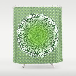 dark Green tapestry Shower Curtain