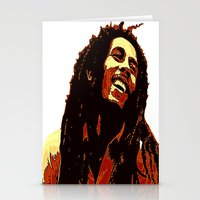 reggae Stationery Cards featuring the god of reggae by  Agostino Lo Coco