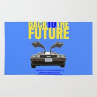 back to the future Area & Throw Rugs featuring Back To The Future by FunnyFaceArt