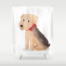 Custom Dog Art Airedale Shower Curtain