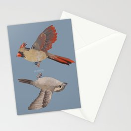cardinal and sparrow Stationery Cards