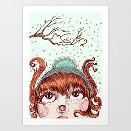 Snowie Art Print