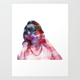 Lana Del Art (Stone American Flag) Art Print