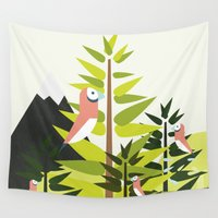 parrot Wall Tapestries featuring Parrot by Chicokids