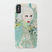 fashion illustration iPhone & iPod Cases featuring FASHION ILLUSTRATION 10 by Justyna Kucharska