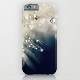 dandelion evening blue iPhone Case
