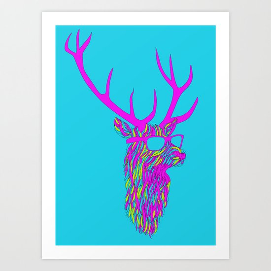 Party deer Art Print