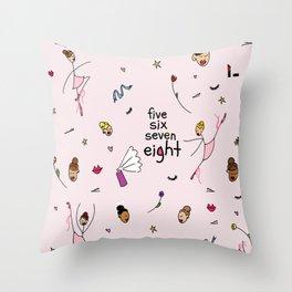5-6-7-8 Throw Pillow