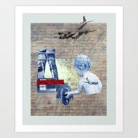 aviation Art Prints featuring AVIATION by shira friedman