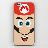 mario bros iPhone & iPod Skins featuring Super Mario Bros NES by JAGraphic