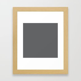 Simply Storm Gray Framed Art Print