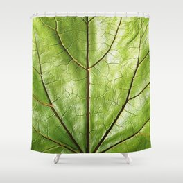 TROPICAL GREEN LEAF WITH  DARK VEINS DESIGN ART Shower Curtain