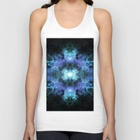 matrix Tank Tops featuring Cosmic Matrix by WES EXOTIC IMAGERY