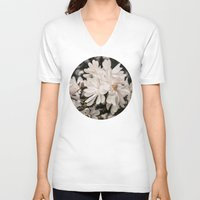 antique V-neck T-shirts featuring Antique Magnolias by A Wandering Soul