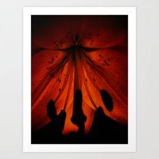 Glow Lily Art Print