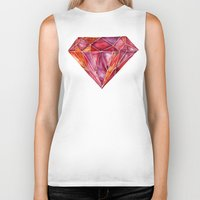 geode Biker Tanks featuring Million-Carat Ruby by Cat Coquillette
