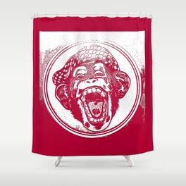 Crazy Monkey Laugh Shower Curtain