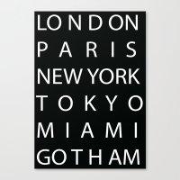 gotham Canvas Prints featuring Gotham by creativecam