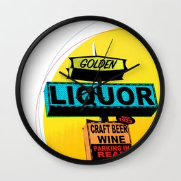 Golden Liquor Wall Clock