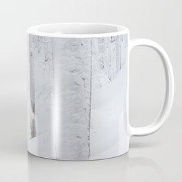 Snow covered forest winter wonderland Coffee Mug