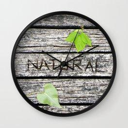 Natural Wall Clock