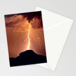 Lightning Strike on Woolsey Peak Arizona Stationery Cards
