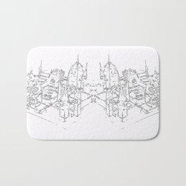 city structure Bath Mat